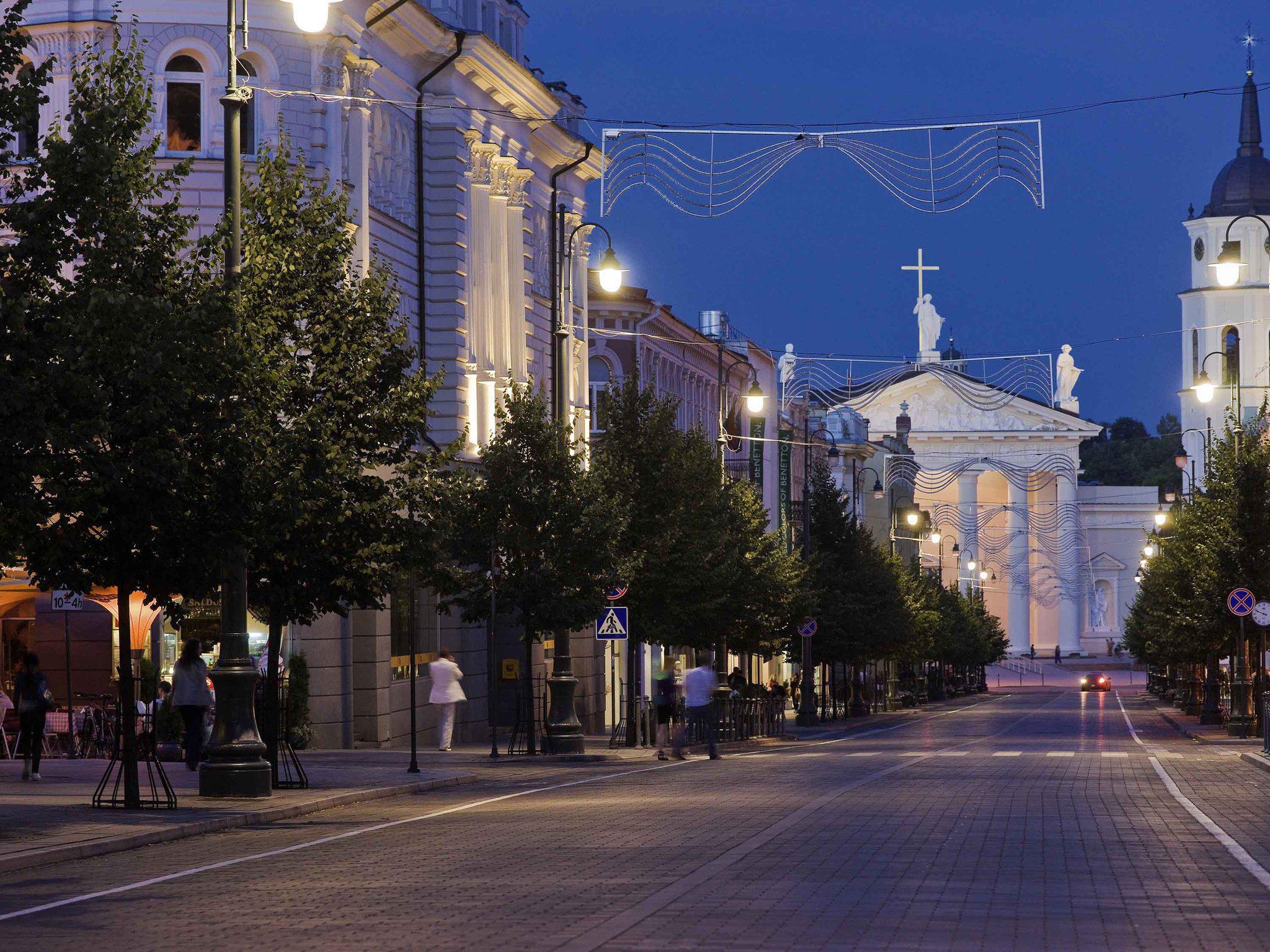 Обои новый город, вильнюс, освещение. Города foto 15