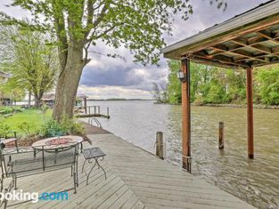 Waterfront Indian Lake House Deck and Private Dock!